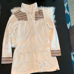 PrAna Rowen Jacket. Small. White. Long.